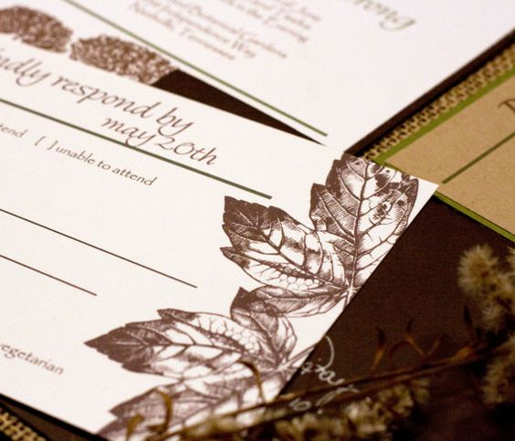 Nature Themed Wedding Invitations Brown Nature Themed Wedding Invitations Inspiration