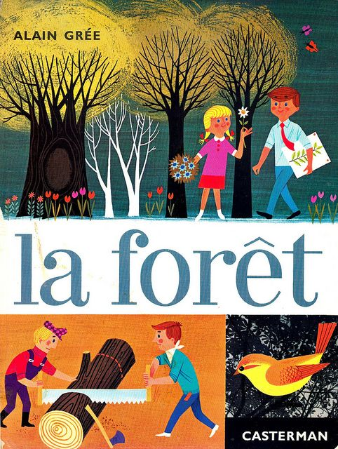 la forêt - Alain Grée 1965.                         by maptitefabrique, via Flickr: