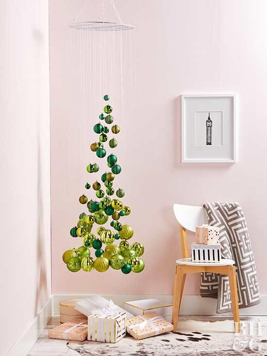 10 Creative Diy Christmas Tree Ideas For Small Space Living Small Space Christmas Tree Unusual Christmas Trees Unique Christmas Trees