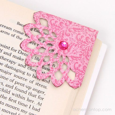 Corner Bookmark Tutorial @ ACherryOnTop.com: