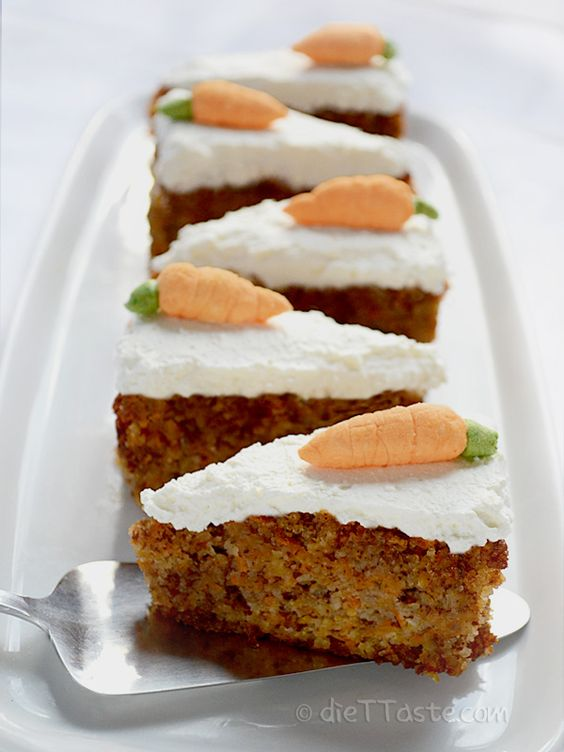 Moist Carrot Cake- Diabetic, flourless, gluten-free, healthy, low-carb, moist, sugar-free- Can you believe there is a cake that is actually good for you? This moist carrot cake with cream cheese frosting is not only tasty, but at the same time healthy, diabetic friendly, without added sugar, flourless and low in carbohydrates.:
