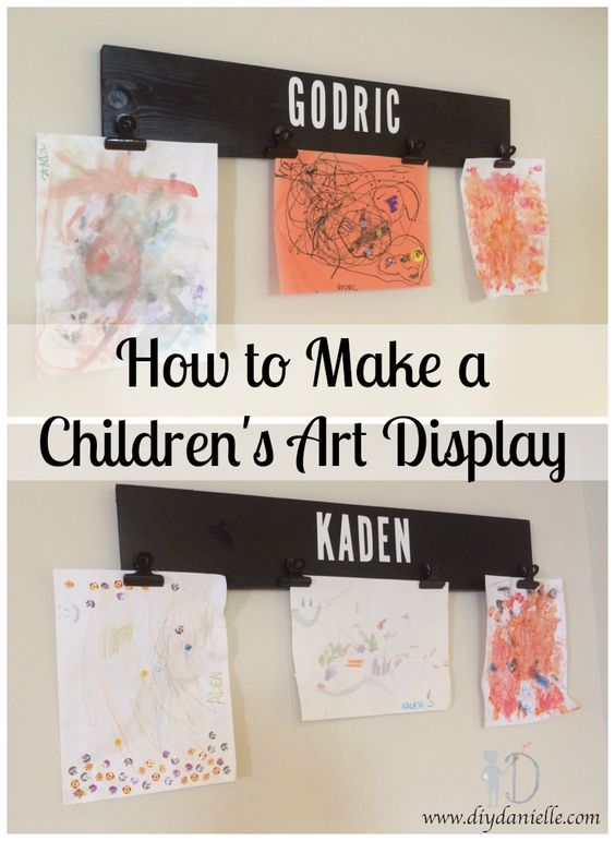 How to Make a Children's Artwork Display