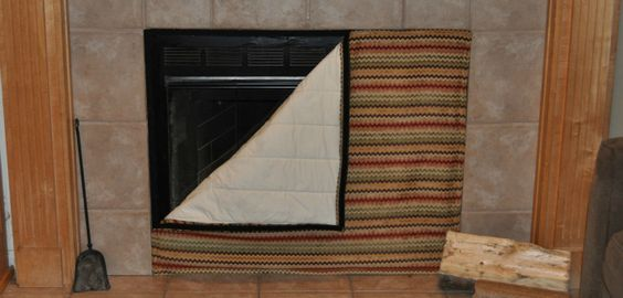 Fireplace Cover For Winter Time For The Home Pinterest