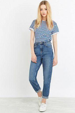 BDG – Vintage-Mom-Jeans in Dunkelblau – Damen 27W 32L