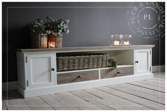 Maatwerk tv meubel tv dressoir old wood present new arrivals nieuwe collectie - Muur hutch ...