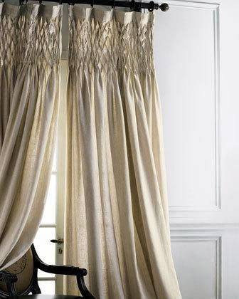 beautiful smocked curtains