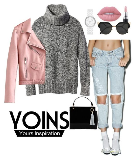 """""""YOINS"""" by lovableln on Polyvore featuring MAC Cosmetics, Glamorous, Theory, DKNY, Fendi and Lime Crime"""