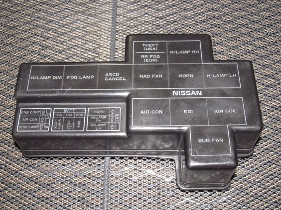 90 96 Nissan 300zx Oem Engine Fuse Box Cover Nissan 300zx And   On 90 96 Nissan 300zx Oem Engine Fuse Box Cover Nissan 300zx And Products