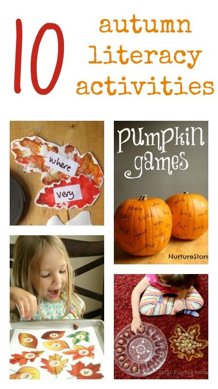 10 Autumn Literacy Activities Literacy Activities Creative Writing For Kids Fall Lessons Fall literacy activity for kindergarten