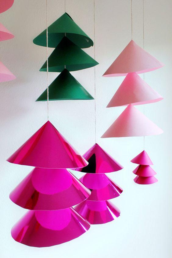 Mobiles Árvores de Natal