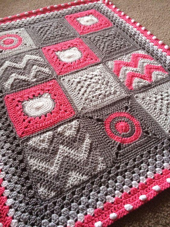 crochet baby blanket crochet crocheted blankets baby afghans crochet ...