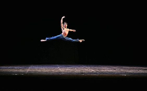 Rudolf Nureyev -- saw him do this at the Greek Theater on a summer evening, circa 1985. Three minutes into the ballet, first appearance -- Standing Ovation!