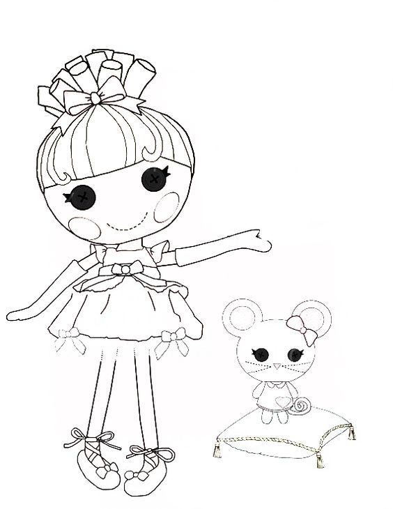 Lalaloopsy Cinder Slippers coloring page | Coloring pages ...