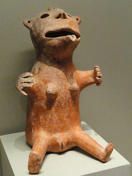Bear-Woman Vessel, about 1200-1000 BCE, Marlik, northwest Iran, ceramic. Cleveland Museum of Art: