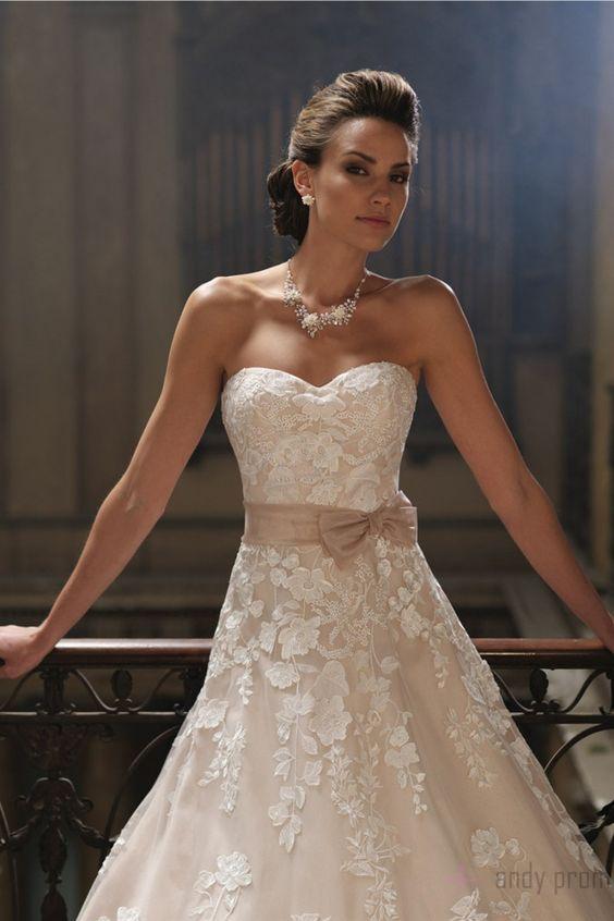 Chapel Train Organza,tulle Empire Sleeveless Sweetheart A-line Wedding Dress