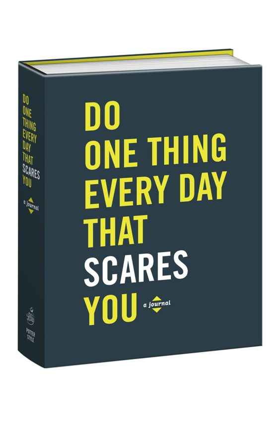 Do One Thing Every Day That Scares You Journal by Random House on @HauteLook