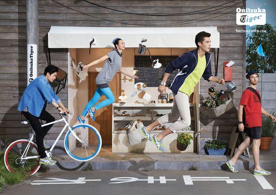 オニツカタイガーの広告イメージ