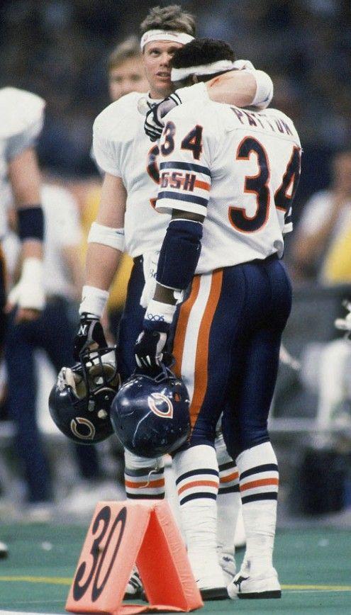 Walter Payton Jim Mcmahon Chicago Bears Football Nfl Players Chicago Sports