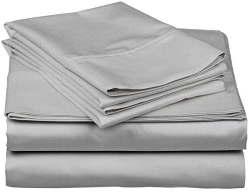 Silver Viceroybedding 100/% Egyptian Cotton Flat Sheet King Bed Size 400 Thread Count