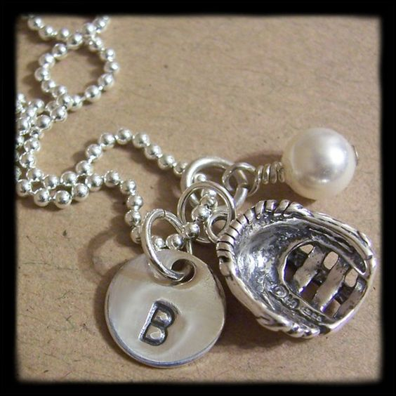 Softball necklace that I ordered for Shelby and Katie Grace!