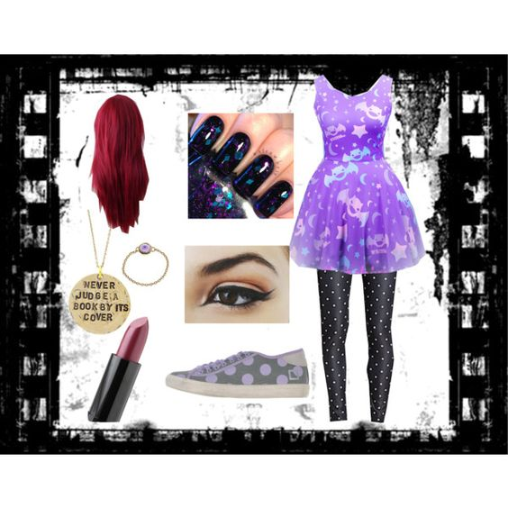 """Slightly Pastel Goth"" by sarahboothe1gmailcom on Polyvore"