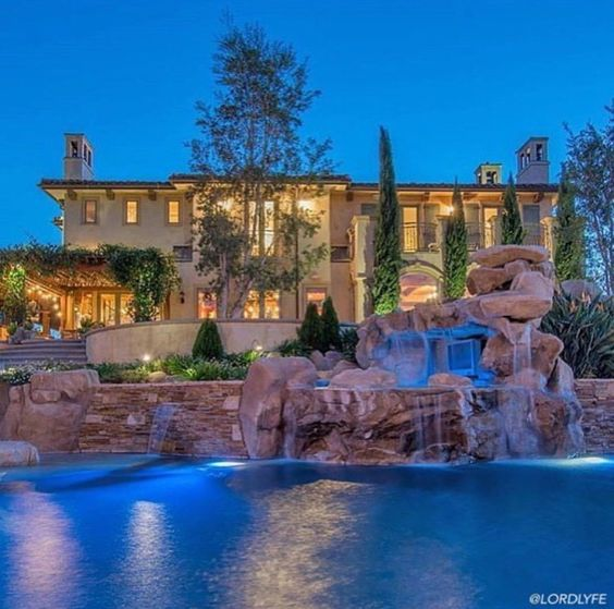 Luxury Mansions With Swimming Pools: Mansions, Waterfalls And Pools On Pinterest