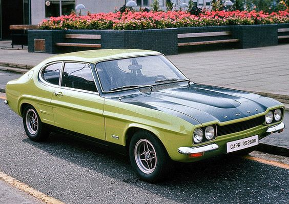 1971 Ford Capri RS 2600. I was a fanatical Coventry City fan back in the early 70's. There was a local Aston Villa fan who had his car customised in Claret and blue. It looked awesome. I wanted a Sky Blue one,.
