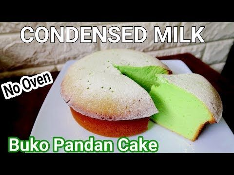 Condensed Milk Buko Pandan Cake Without Oven L How To Make Condensed Milk Buko Pandan Cake Youtube In 2020 Pandan Cake Milk Recipes Condensed Milk Recipes