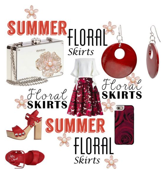 """""""SUMMER: Floral Skirts"""" by mandimwpink ❤ liked on Polyvore featuring Marc Jacobs, Chicwish, Casetify, Jeffrey Campbell, Miu Miu, Mixit, River Island and Floralskirts"""