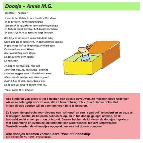 Brede School Annie M.G. Schmidt Amsterdam-Anniedag 2014 - Vriendschap