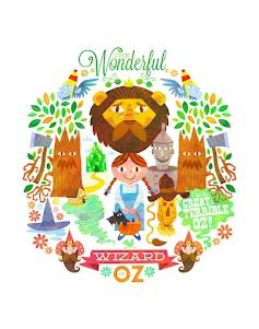 "Art print ""The Wizard Of Oz"" by Matt Kaufenberg  http://acidfree.bigcartel.com/product/wizard-of-oz-by-matt-kaufenberg"