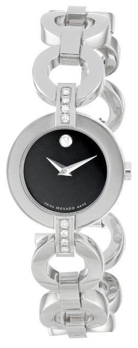 Movado Women's 606263 Belamoda Stainless-Steel Bracelet Watch: Watches: Amazon.com
