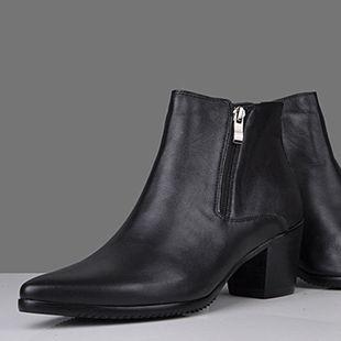 2012 male increased boots genuine leather sleeve high-heeled high