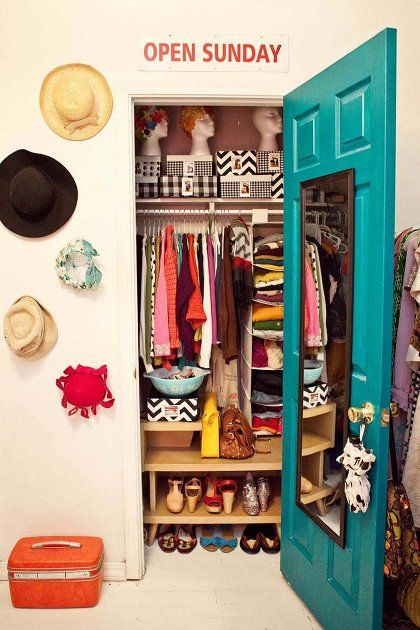 no closet clutter in this dime