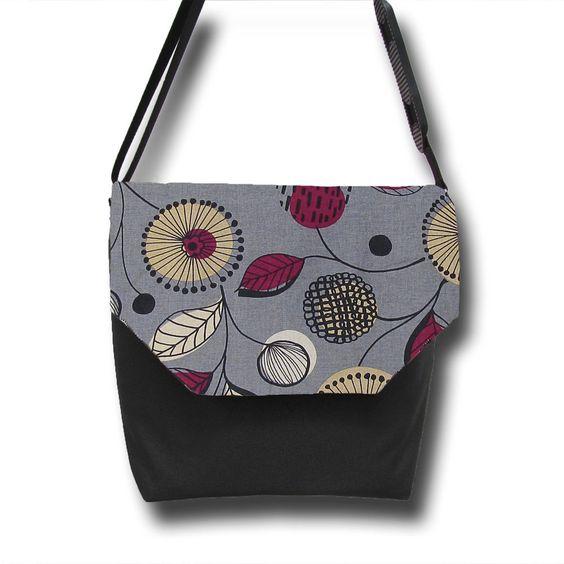 Messenger DSLR Camera Bag - Digital SLR Bag Purse - Photo Bella in  Gray Wonder Fabric Flap - Black Base. $89.99, via Etsy.