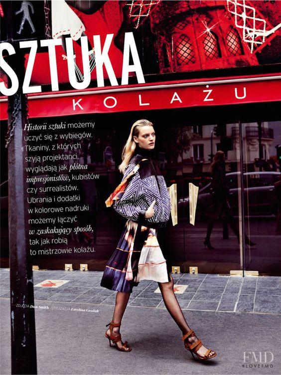 Sztuka Kolazu in Elle Poland with  wearing Alberta Ferretti,Emanuel Ungaro,Givenchy - Fashion Editorial | Magazines | The FMD #lovefmd
