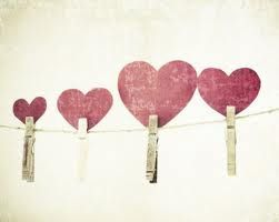 pined hearts great idea just to decorate