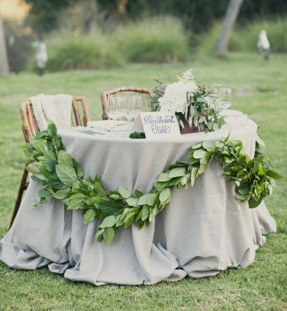 decorar mesas con plantas naturales