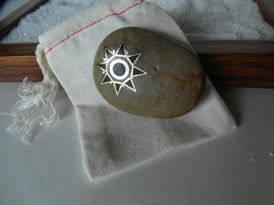 Zen Garden Rock. meditation rock, painted rock, beach pebble, natural, embellished, fairy garden, lucky rock, pet rock, worry stone