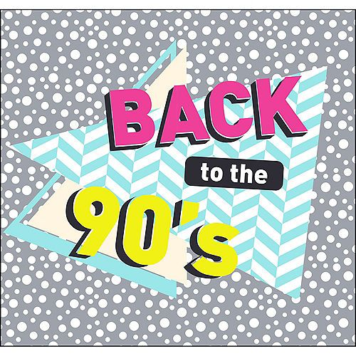 Back To The 90s Backdrop Standee 2pc 90s Decorations 90s Theme Winter Party Themes