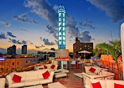 Spire Bar Lounge At The Hotel Of South Beach Miami City Guide Condé Nast Traveler Amazing Pinterest Rooftop And