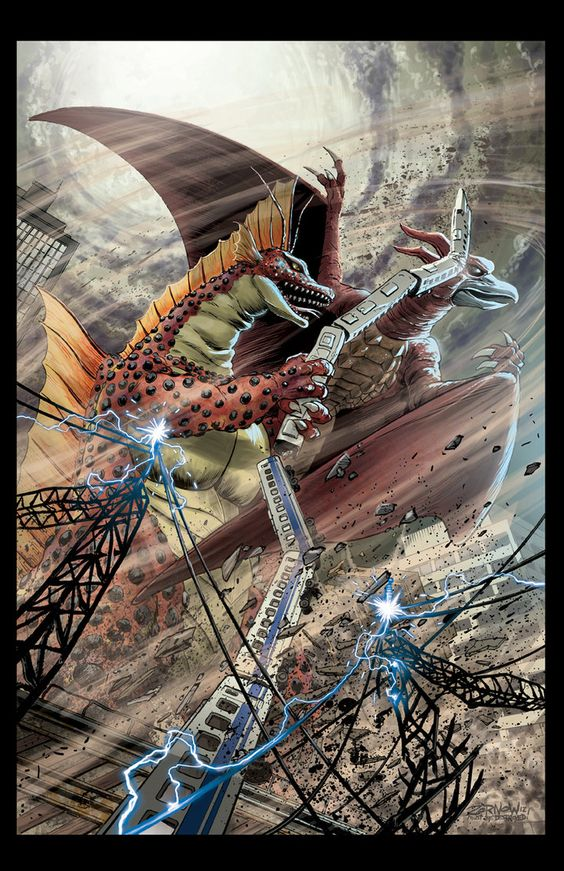 GODZILLA #4 cover by Zornow on deviantART