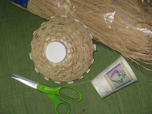 Basket Weaving Using A Paper Cup : Plastic grocery bags yarns and for kids on