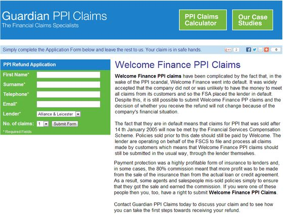 Welcome Finance PPI Claims Guardian PPI Claims Pinterest