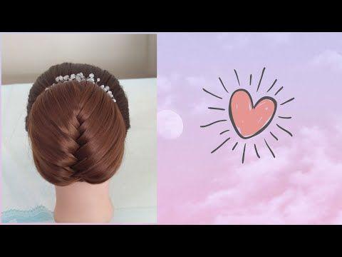 تسريحة سهلة ومميزة للمناسبات بخطوة الجدولة Orgulu Topuz Sac Modeli Youtube Hair Tutorial Hair Styles Tutorial