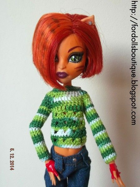 Ropa para Monster High: jersey J8 de For dolls boutique por DaWanda.com