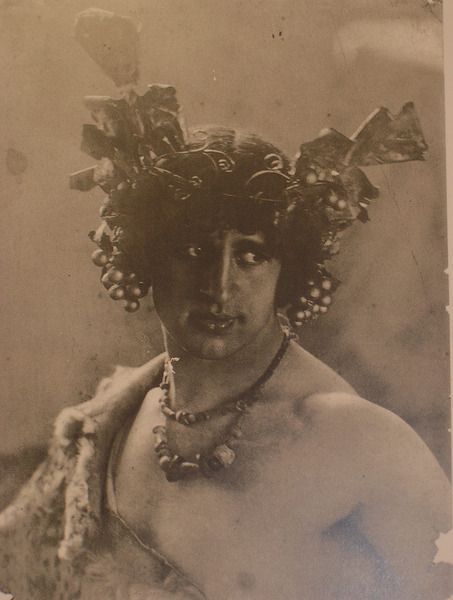 Russian artist, photographer and physical culturist Ivan Myasoedov - unknown photographer. 1910s