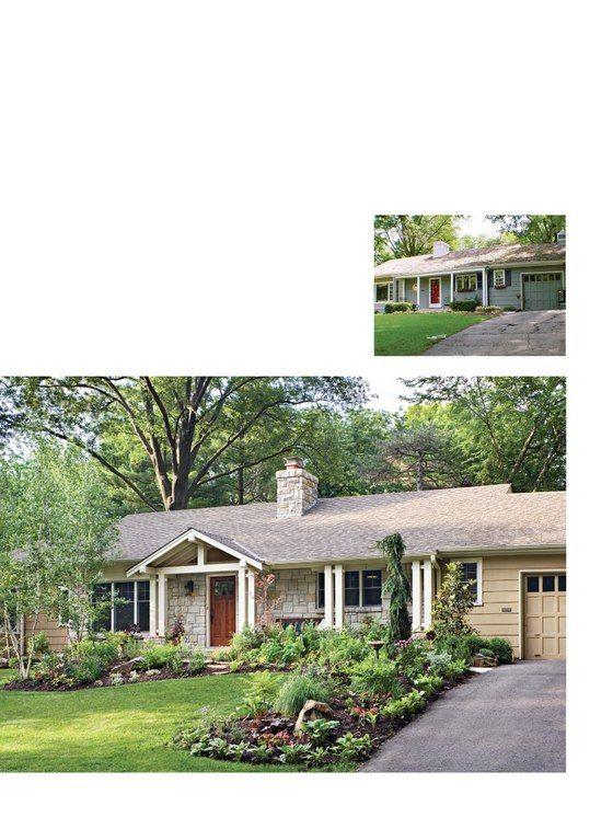 Gable on Ranch house: Yard House, Garden Ideas, House Ideas, Ranch House, Front Yard, Front Entrance, Ideas House, Better Homes And Gardens, Yard Ideas
