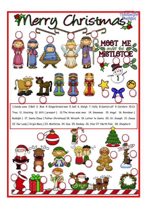 Christmas pictionary - Interactive worksheet | Christmas ESL ...