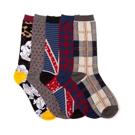 Shop for Womens Floral Union Crew Socks 5 Pack in Multi at Journeys Shoes.